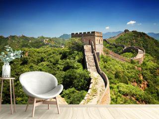 The Great Wall of China near Jinshanling on a sunny summer day