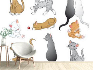 Katzen Vektor Set