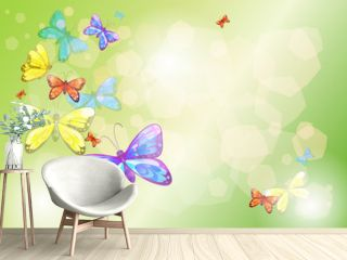 A stationery with colorful butterflies