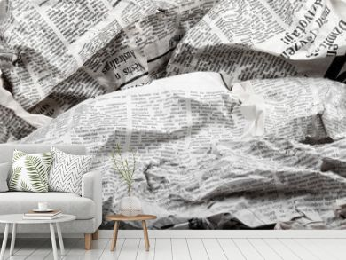 background of old crumpled newspapers