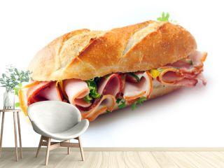 Ham and lettuce sandwich