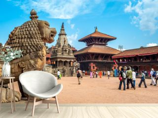 At Durbar Square in Bhaktapur