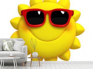 3d cartoon cute sun