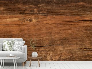 Wood texture background, weathered brown plank from barn