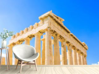 the famous Parthenon temple in Acropolis in Athens Greece
