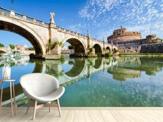 Bridge and castle Sant Angelo, Rome