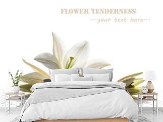 spa still life with white lily