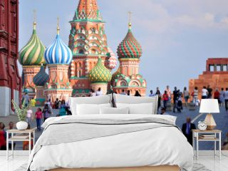 Red Square and St. Basil's Cathedral in Moscow