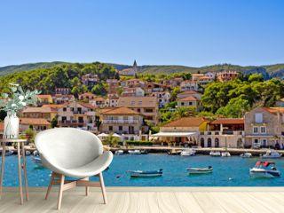 Port of Jelsa town on Hvar island, Croatia