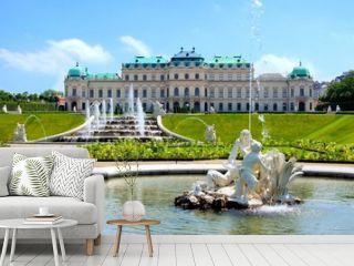 Belvedere Palace, garden and fountains, Vienna, Austria