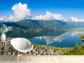 The popular tourist city of Pokhara and the Phewa Lake