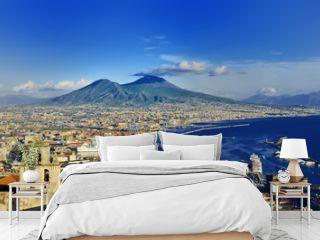 Naples and Vesuvius panoramic view, Napoli, Italy