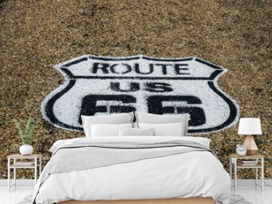 Route 66 in US Highway Shield