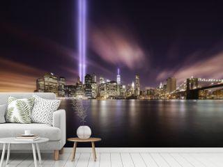 9-11 Tribute lights,Manhattan New York