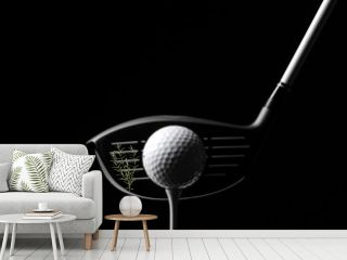 Golf Wood with a Golf Ball and Golf Tee