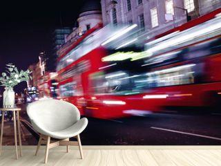 Red bus in London street