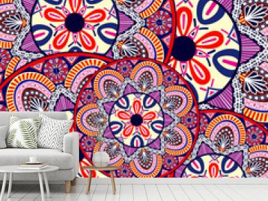 Abstract Ethnic Ornate Background For Design.