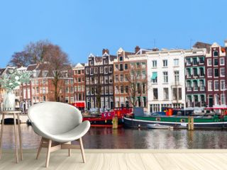 City life in Amsterdam city center