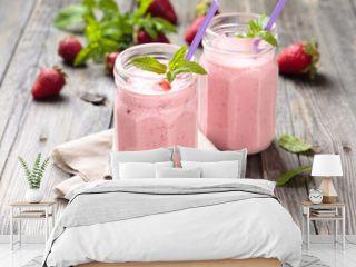 Strawberry milkshake.