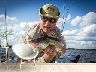 Boat summer fishing for walleye