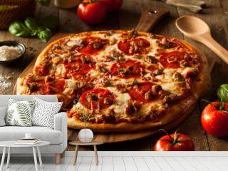 Homemade Meat Loves Pizza