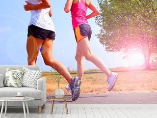 zwei Läuferinnen