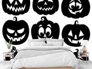 Pumpkin silhouettes theme set 1