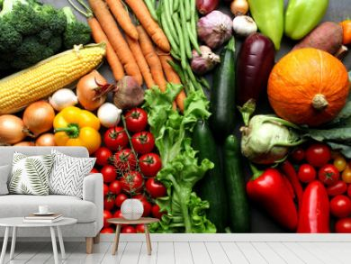 Fresh vegetables background - harvest concept