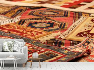 Traditional carpets from Middle East.