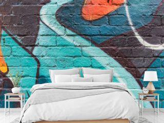 Graffiti wall close up / macro