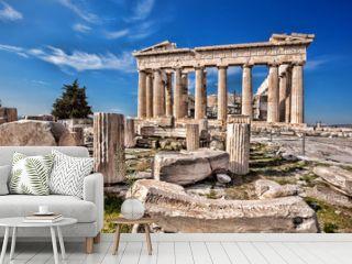 Parthenon temple on the Acropolis in Athens, Greece