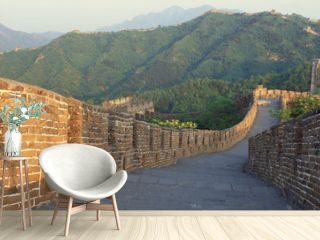 The Great Wall at Mutianyu in Beijing in Hebei Province, People's Republic of China