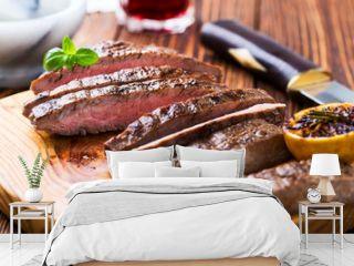 Grilled marinated flank steak