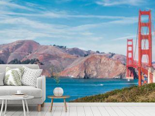 Panorama of the Golden Gate bridge