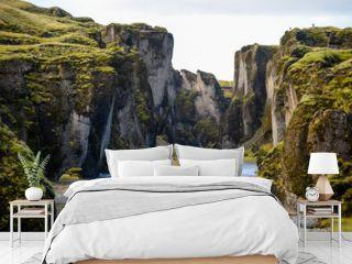 Fjadrargljufur canyon with river, Iceland