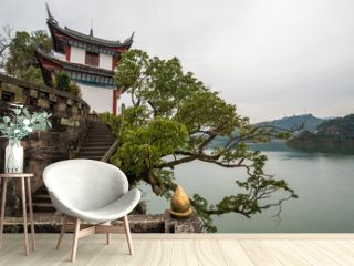landscape view of the river-shibao pagoda,chongqing,china