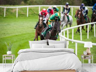 horse race turning the corner