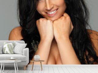 Beautiful woman with long black hair.