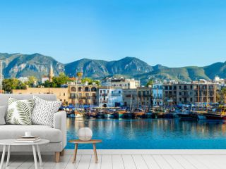 Panorama of Kyrenia harbour. Kyrenia (Girne), Cyprus