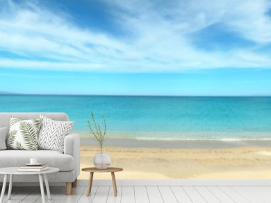 Panoramic view of Fiume Santo beach