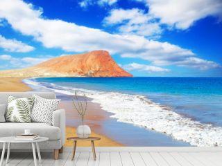 La Tejita beach and El Medano mountain, Tenerife, Canary islands