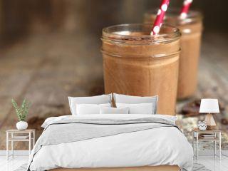 Chocolate babnana smoothie.