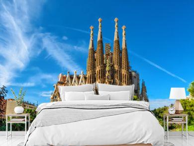 Nativity facade of Sagrada Familia cathedral in Barcelona