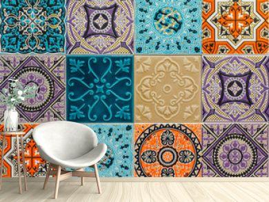 colorful ornament ceramic tiles patterns