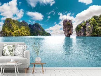 Paisaje pintoresco.Oceano y montañas.Viajes y aventuras alrededor del mundo.Islas de Tailandia.Phuket.