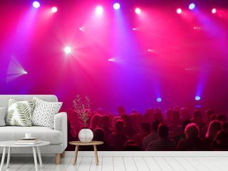 Colorful and vivid stage spotlight background