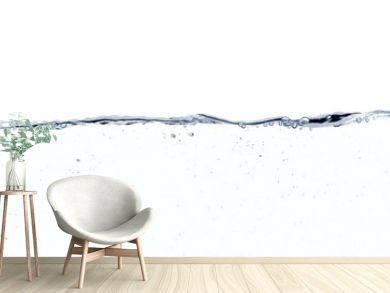 Water line surface against white background