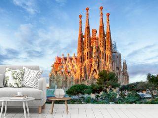 BARCELONA, SPAIN - FEBRUARY 10: La Sagrada Familia - the impress