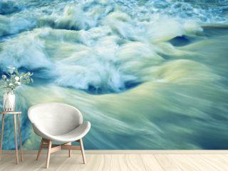retro autumn wave rapid river