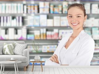 Young pharmacist in pharmacy